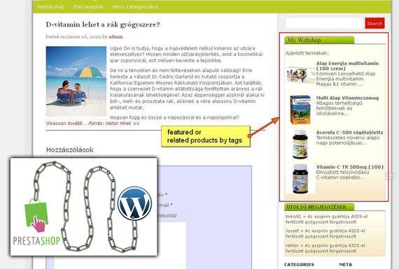 Prestashop Wordpress modul képernyőkép